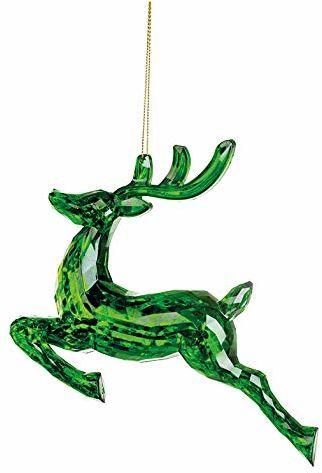 EUROCINSA Ref.28574 jeleń zawieszka zielona 18 x 4,5 x 15 cm 12 sztuk, szkło, rozmiar uniwersalny
