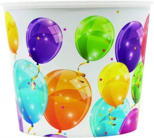 Pojemnik na popcorn, przekąski XXL Błyszczące Balony