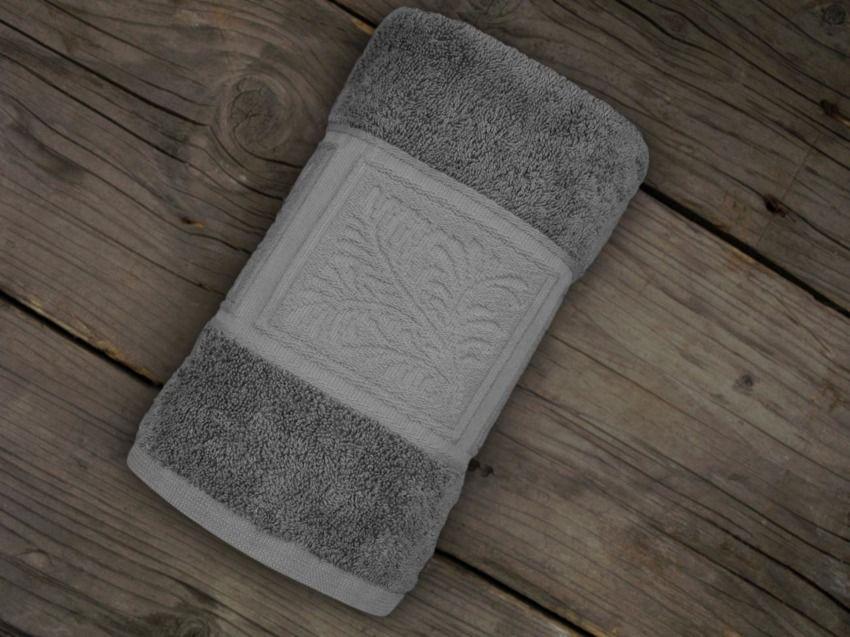 Ręcznik bawełniany Greno Ecco Bamboo Popielaty
