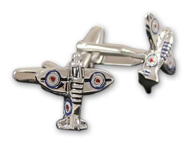 Eleganckie, Męskie Spinki do Mankietów - ALTIES - Myśliwiec RAF, Dla Pilotów SPMALT0130