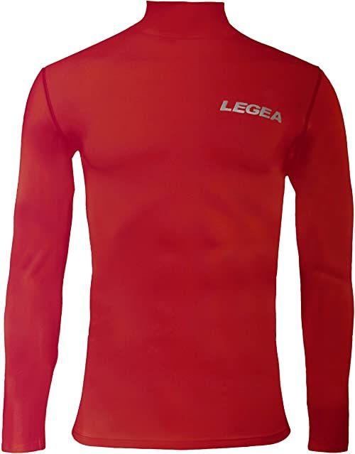 Legea Body 6 Dynamic męska koszulka z długim rękawem z wysokim kołnierzem czerwona Rozmiar: FR: XXL (Tkanina ogonowa: XXL)