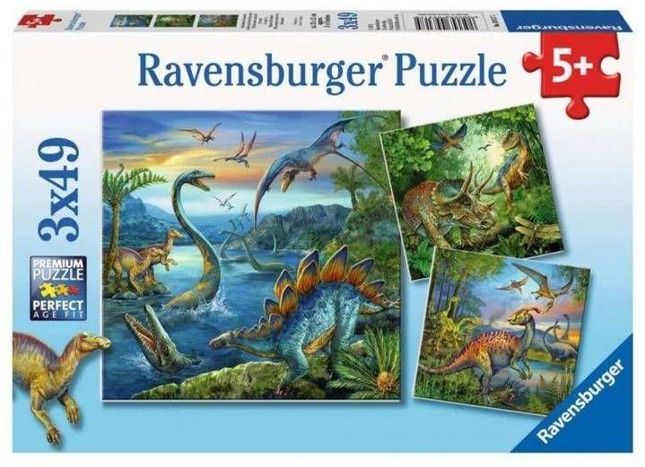 Puzzle 3x49 Fascynacja Dinozaurami - Ravensburger