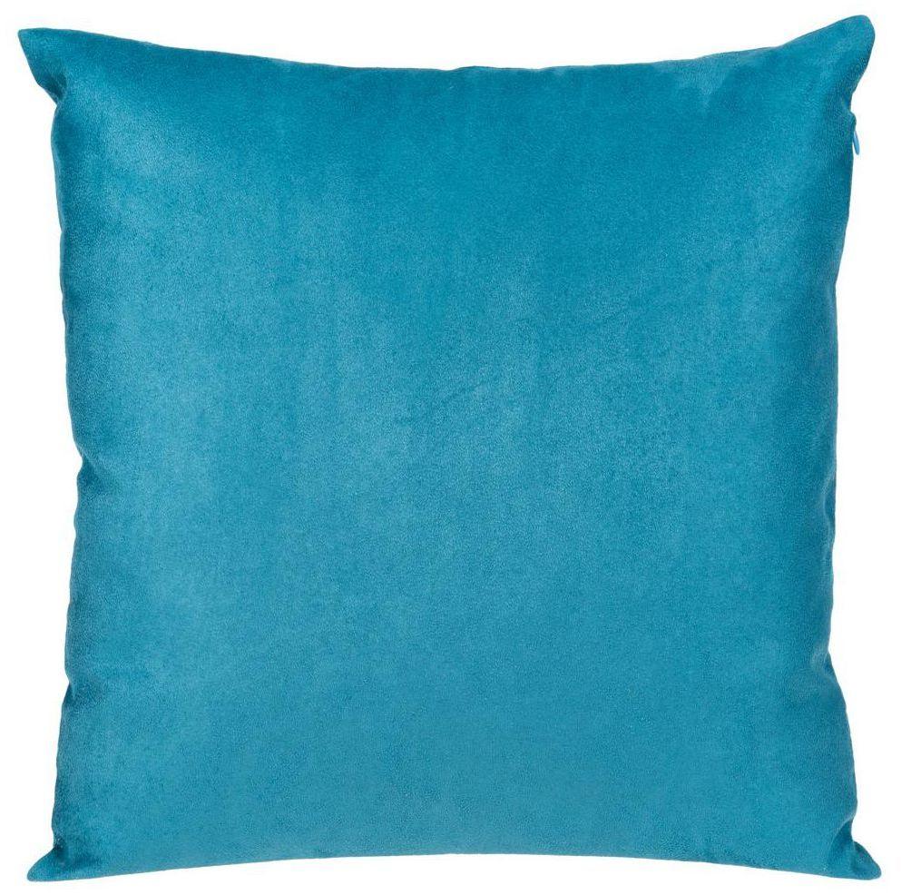 Poduszka Suede niebieska 45 x 45 cm Inspire