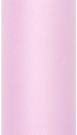 Tiul dekoracyjny jasnoróżowy 15cm rolka 9mTIU15-081J - JASNY RÓŻOWY 15CM