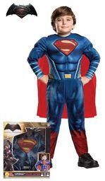 Batman i Superman Doj Premiere w kinach 23 marca 2016  kostium Superman Doj musculoso w pudełku Talla L czerwony