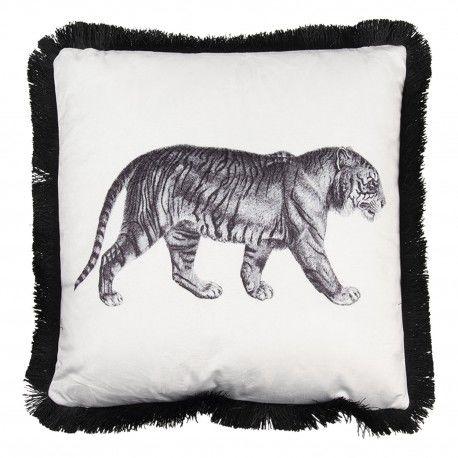 Poduszka z Tygrysem i Frędzelkami Clayre & Eef
