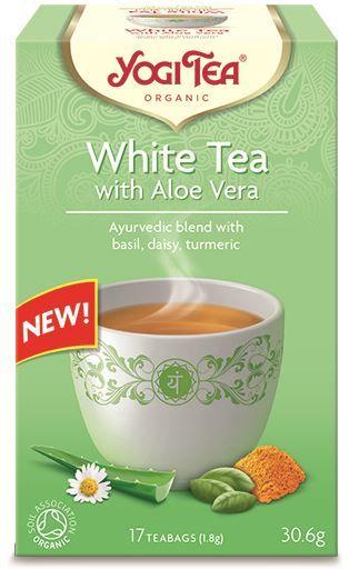 Herbata biała z aloesem bio 17 x 1,8 g 30,6 g - yogi tea