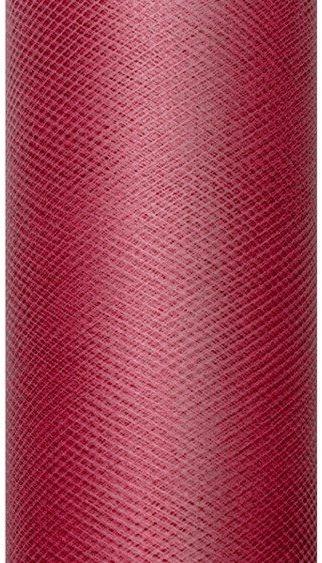 Tiul dekoracyjny bordowy 15cm x 9m 1 rolka TIU15-082
