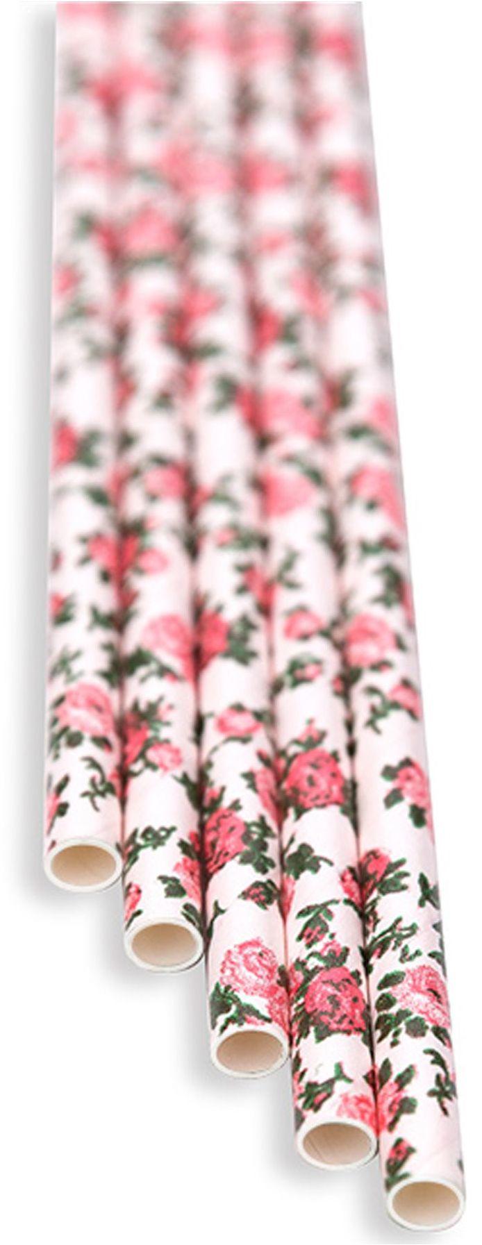 Słomki papierowe florystyczne białe