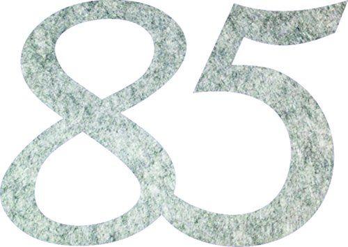 Petra''s Bastel-News A-GEF3385-87 dekoracja do posypywania, Fliz, szary-melanż, 18 x 12 x 3 cm