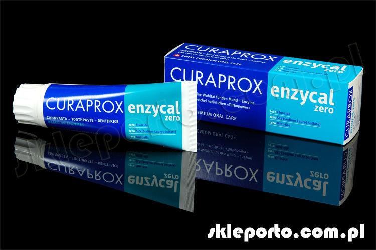 Curaprox Enzycal ZERO - pasta przeciw próchnicy z systemem laktoperoksydazy - 75 m - stosowana u dzieci i dorosłych SLS free