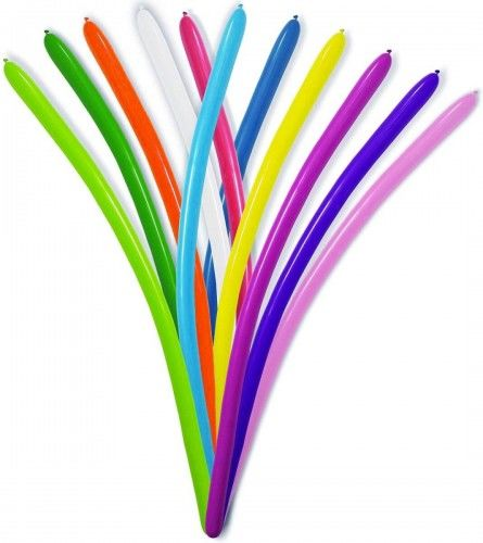 Balony rurki do modelowania mix kolorów 15 szt.