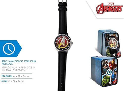 Kid Licensing MV15786 RELOJ ANALOGICO AVENGERS zegarek do nauki, wielokolorowy (wielokolorowy)