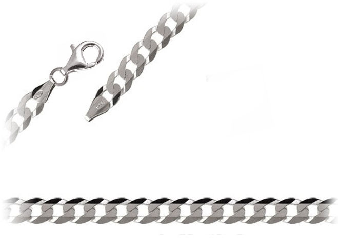 Elegancki srebrny łańcuch pancerka 50cm srebro 925 FL163