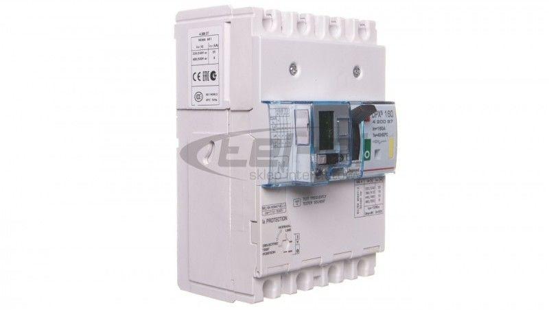 Wyłącznik mocy 4P 160A 16kA z zabezpieczeniem różnicowoprądowym DPX3 160 420037