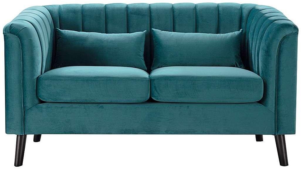 Sofa Meriva Velvet teal 2-os., 156,5 x 83,5 x 88 cm