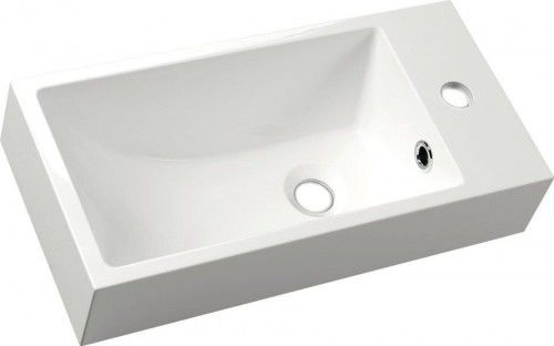Mała umywalka kompozytowa 50x10x25cm , biała PRAWA