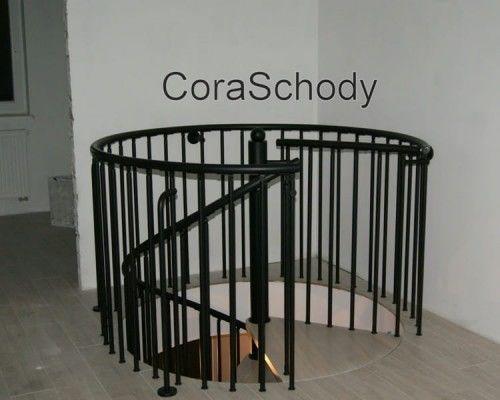 Balustrada metalowa do schodów kręconych CORA model Madryt