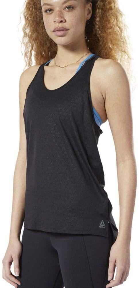 Reebok damski Os Smartvent Tank koszulka bez rękawów, czarna, XS