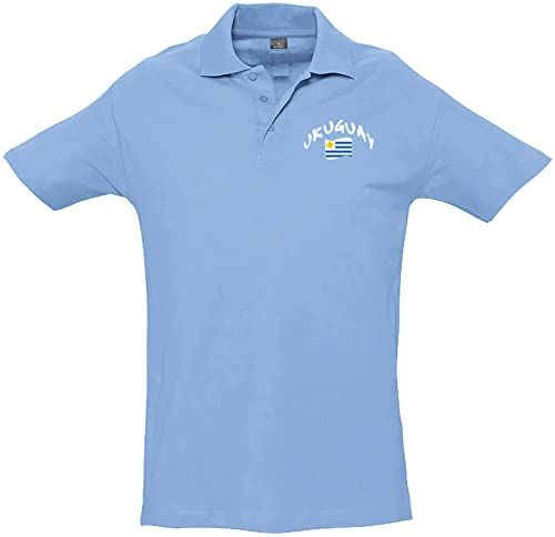 Supportershop Unisex dziecięca koszulka polo Rugby Enfant Uruguay Rugby dla dzieci. niebieski niebieski FR : L (Taille Fabricant : 8 Jahre)