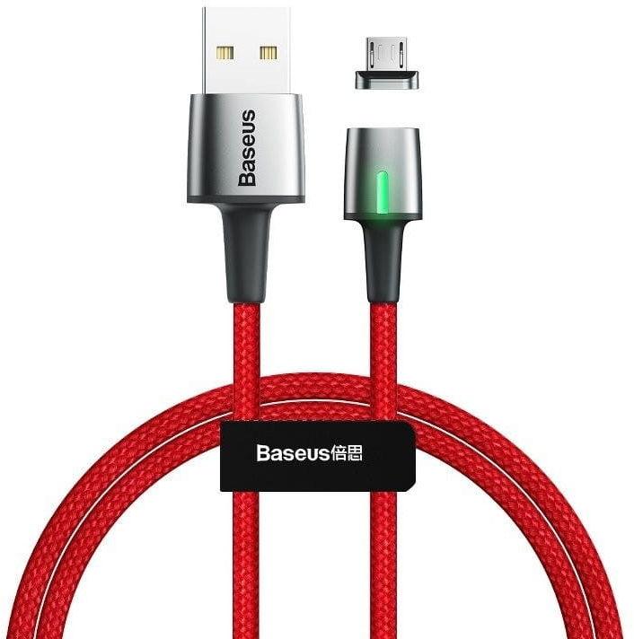Kabel magnetyczny micro USB Baseus Zinc 2.4A 1m (czerwony)