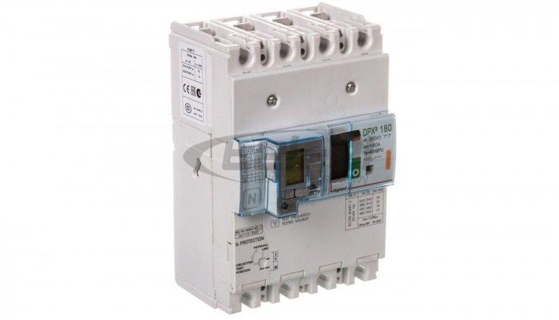 Wyłącznik mocy z zabezpieczniem różnicowprądowym 4P 160A 25kA DPX3 160+BL.R 420077