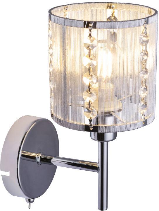 Globo WALLA 15091W kinkiet lampa ścienna chrom 1xE14 40W 24,5cm