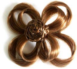 Love Hair Extensions Kwiat na zacisku krokodylkowym kolor 5B - Safariblond, 1 opakowanie (1 x 1 sztuka)