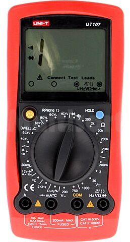 Samochodowy multimetr cyfrowy UNI-T UT107 LCD (1999)
