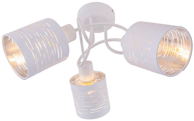 Globo BARCA 15341-3D plafon lampa sufitowa biała biały chrom 3xE14 15W 40cm