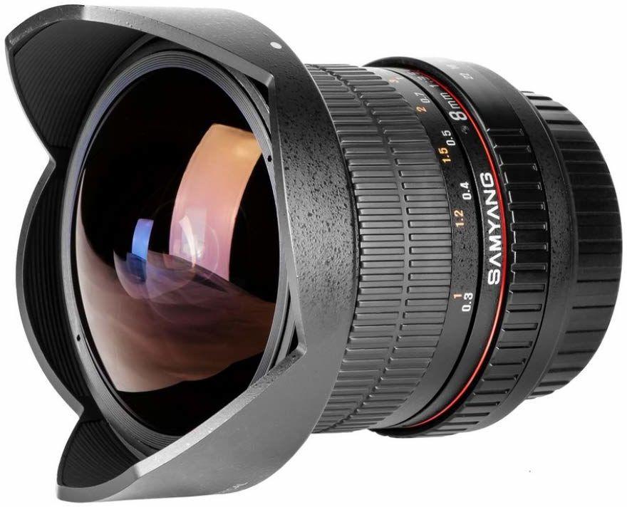 Samyang obiektyw Fisheye II DSLR Canon F 3.5/8 mm soczewka ogniskowa, czarna