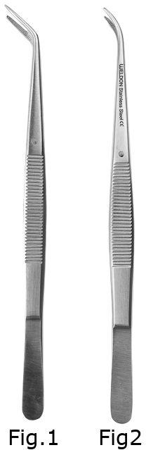 Pinceta stomatologiczna LONDON - COLLEGE 15.5cm - (wybór figury: Fig.1, Fig.2)