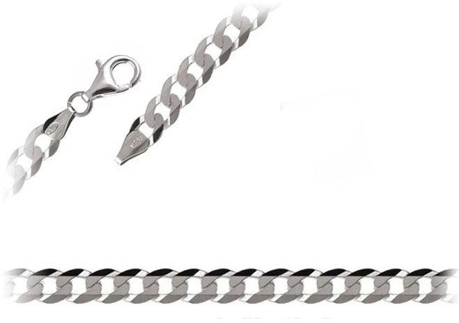 Elegancki srebrny klasyczny męski gruby łańcuch pancerka pancer 55cm srebro 925 PANCER_P150