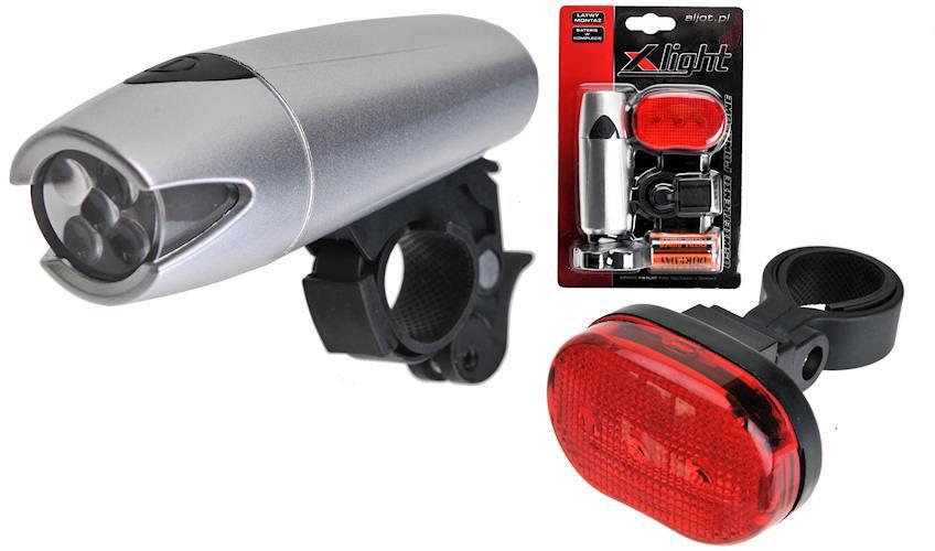 Zestaw lamp rowerowych X-Light diodowych Polaris (XC-8008)