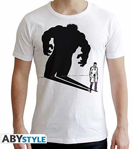 """ABYstyle - MARVEL - T-shirt -""""Hulk Ombre"""" - mężczyźni - biały (XS)"""