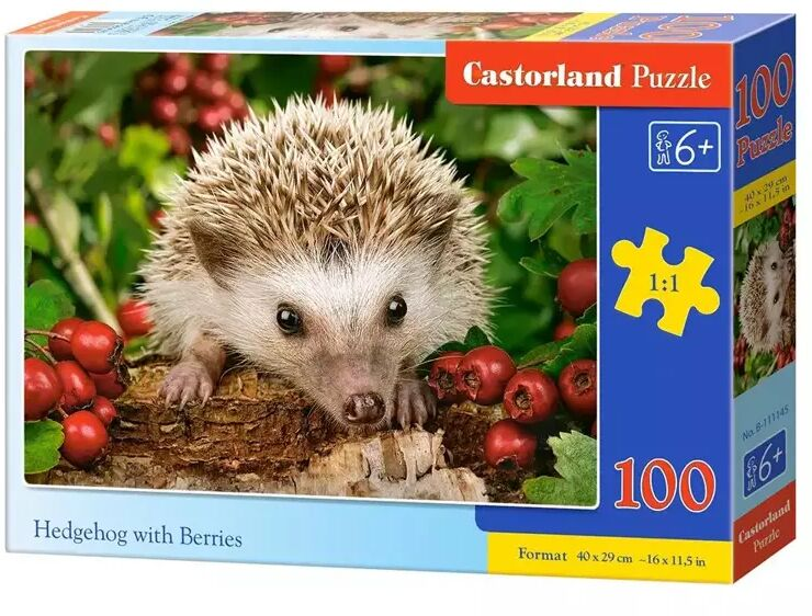 Puzzle 100 Hedgehog with Berries CASTOR - Castorland