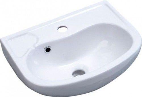 Mała umywalka 45x35 cm podwieszana biała