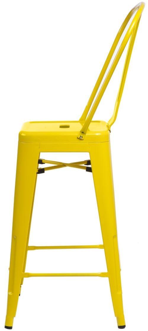 D2 Stołek barowy ParisBack żółty inspirowany Tolix
