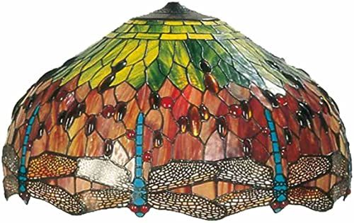LumiLamp 5LL-9200 Tiffany Stil abażur ok. Ø 51 cm dekoracyjne szkło kolorowe ręcznie szklany klosz