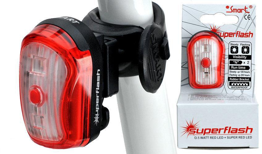 Lampa rowerowa tył Smart Led + 1X0.5W RL323R-01
