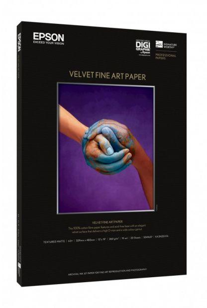 Papier EPSON SIGNATURE WORTHY Velvet Fine Art Paper A3+ 260gsm (20 arkuszy) (C13S041637)