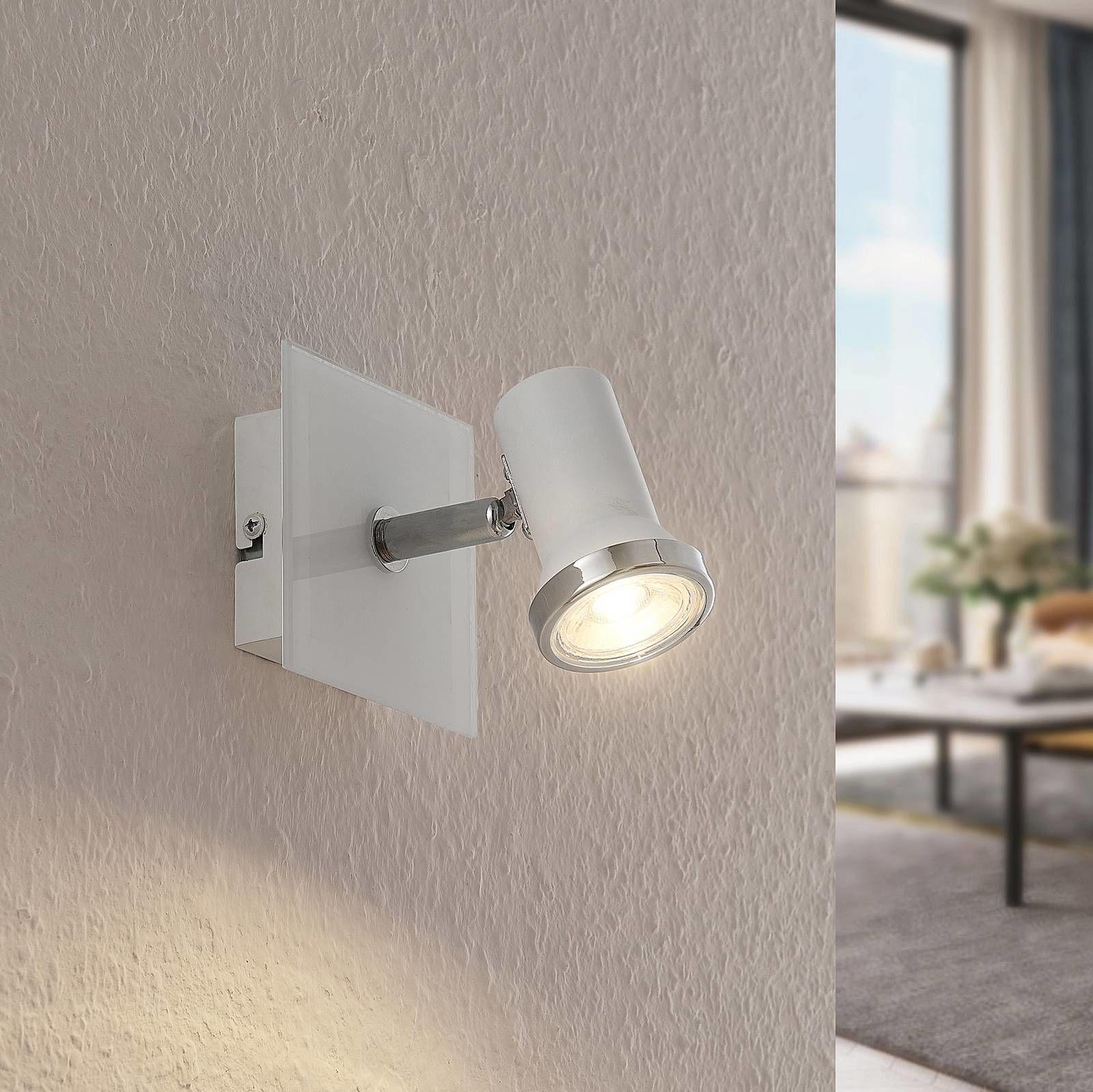 Lindby Marvolo lampa ścienna, biała, 1-punktowa