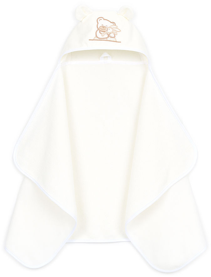 MAMO-TATO Okrycie ręcznik kąpielowy z kapturem 70x120 - Ecru