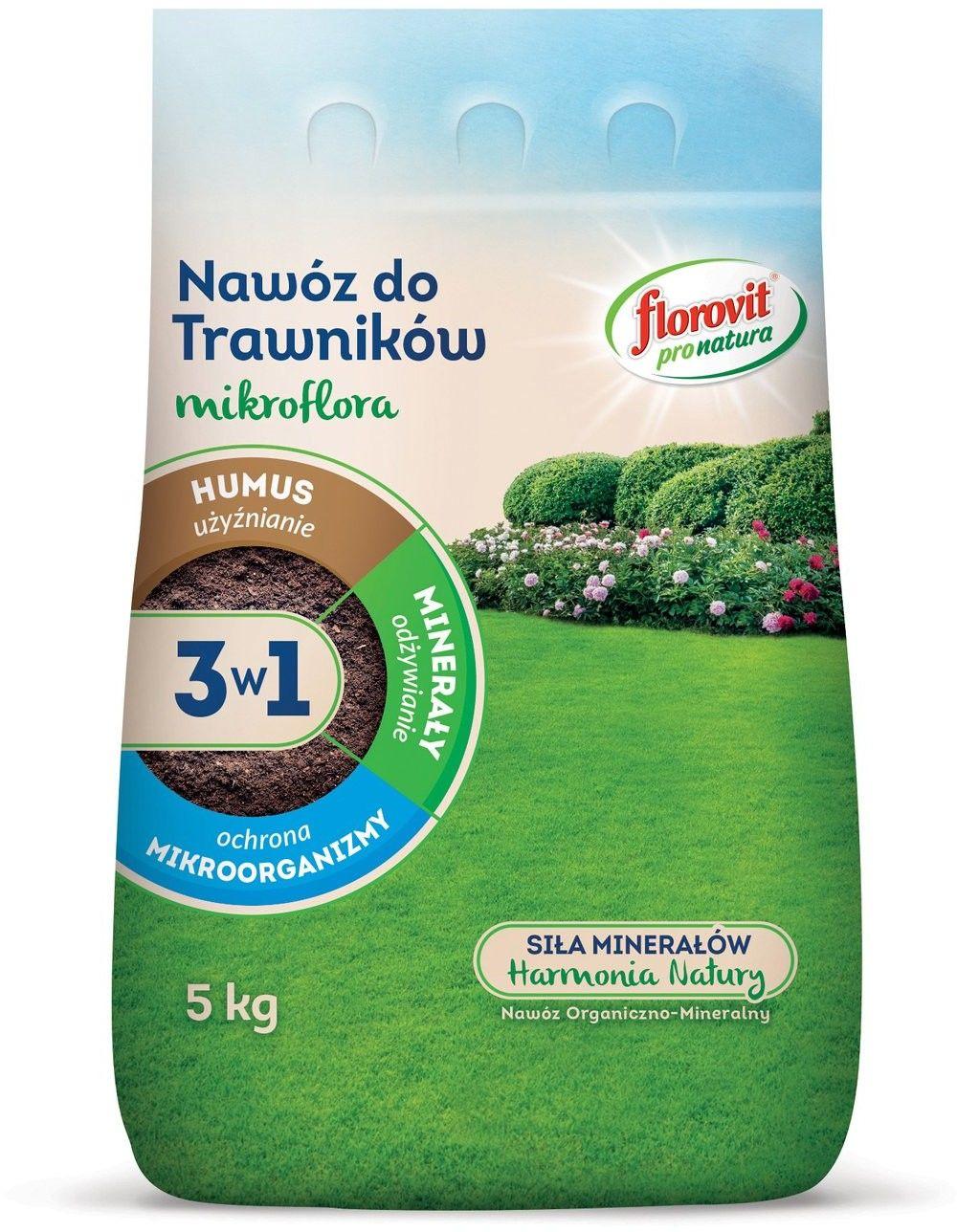FLOROVIT PRO NATURA MIKROFLORA 3w1 DO TRAWNIKÓW 5 KG