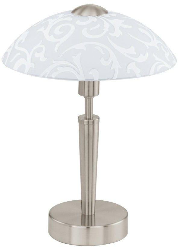 Lampa stołowa kwiaty SOLO 1X60W E14 91238 Satyna EGLO