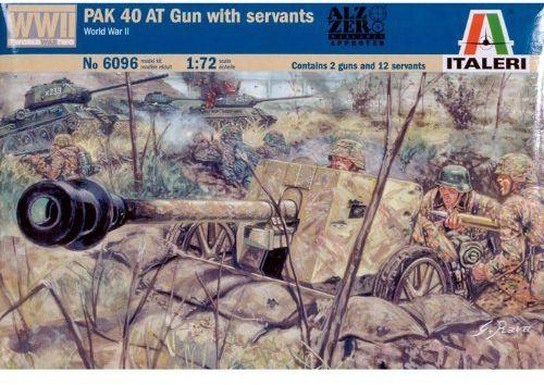 Italeri 510006096 - 1:72 WWII DT pancerna armatka ochronna Pak 40