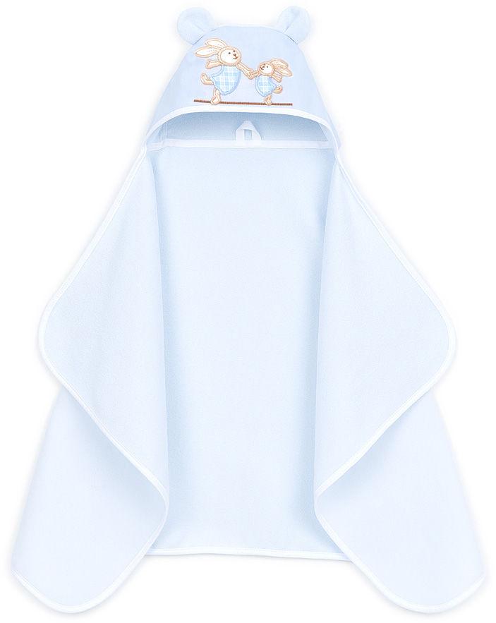 MAMO-TATO Okrycie ręcznik kąpielowy z kapturem 70x120 - Błękit
