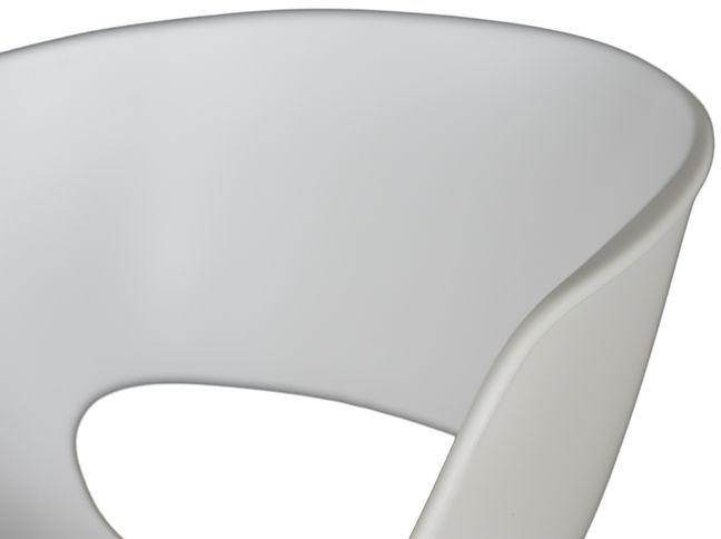 D2 Stołek barowy Shell biały