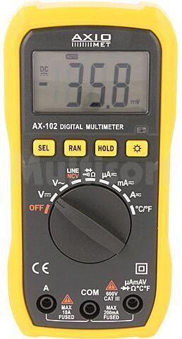 Multimetr cyfrowy AXIOMET AX-102 LCD (2000), podświetlany -20 750 C