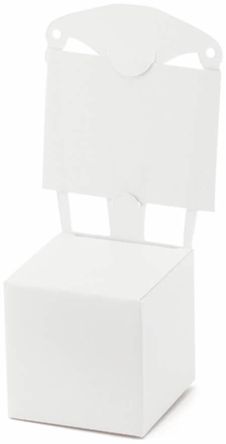 Pudełeczka dla gości krzesełka białe - 10 szt.